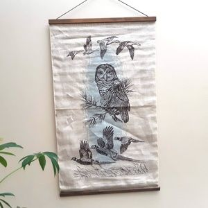 Other - Owl Tapestry | Geese & Pheasant Wall Hanging